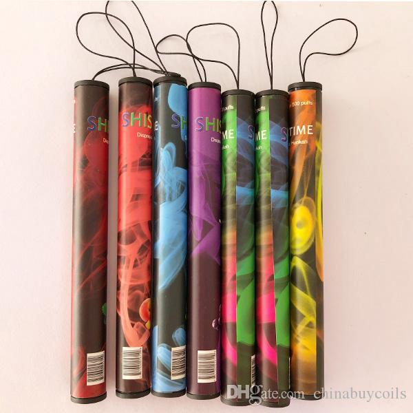 2019 Atacado Tempo de Shisha E Hookah 500 Puffs Caneta de Tubo Eletrônico Cigarro Stick Sticks Shisha Hookah Descartável Posh Vape Pen