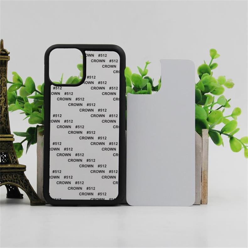 50 pcs Retail DIY Sublimation 2D Silicon Case for iPhone 7 6 Blank Printed Heat Transfer Cover for iPhone X With Aluminum Plate
