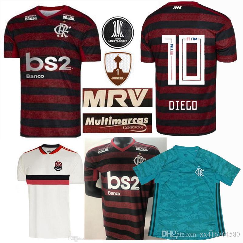 Acquista Maglia Da Calcio CR Flamengo 2019 2020 19 20 Flamengo Casa Camisa De Futebol GUERRERO DIEGO 2019 Calcio Via Maglia Portiere Terzo S 2XL A ...