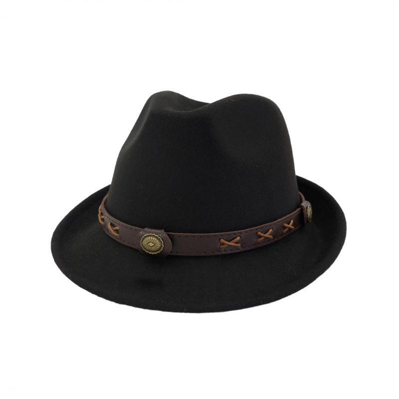Yeni sonbahar ve kış erkekler büyük fötr kapakları klasik fötr şapka kürklü başörtüsü imitasyon yün kap siperliği Brim HatsHF119