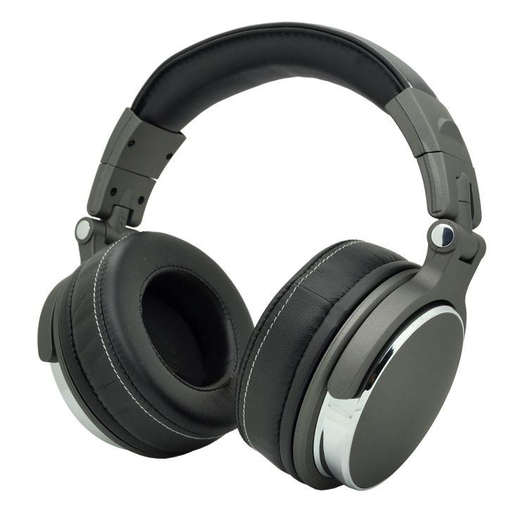 Fones de ouvido de estúdio de estúdio de estúdio de DJ Over-Auricular Profissional com C Cada em uma embalagem de caixa de presente