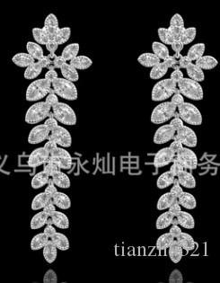 niedrigen preis hohe qualität edle diamant kristall Crown Clover damen ohrringe (45, .kl