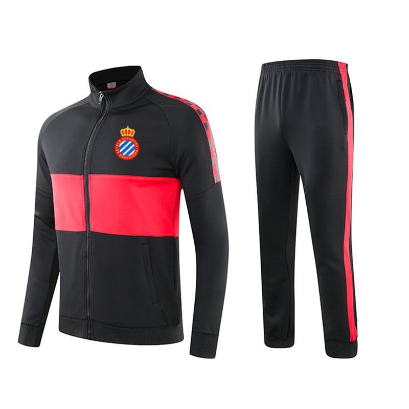 espanyol 2020 Frühjahr / Herbst Winter neuer Trainingsanzug Jacke Fußball langer Abschnitt Freizeitkleidung Sporttrainingsanzug Baumwollklage läuft