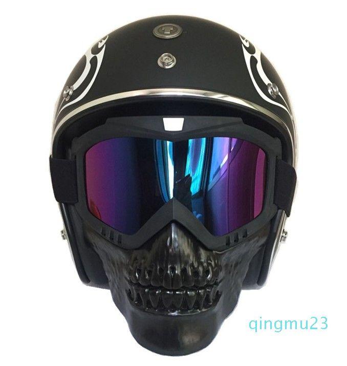 All'ingrosso-calde Maschere Skull Sci Eyewear inverno antivento Motocross Occhiali da sole Neve Occhiali da sci motoslitta Occhiali Sci Maschera