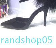 Vendita calda-ed i sandali esplosioni di moda punta piuma sexy passerella tutte le scarpe partita fibbia