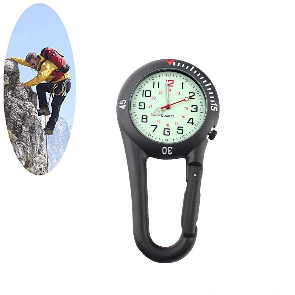 Multifunktionale Klettern Camping Wandern Bergsteigen Schnalle mit hochwertigen Quarz Zifferblatt FOB Uhr und gefederten Karabinerhaken sec