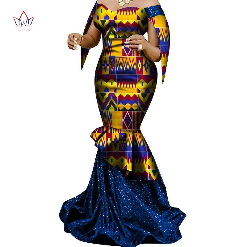 Сделано в Китае 2020 Моды африканского платья для женщин Dashiki Плюс Размер одежды африканской Базен Плюс Размер партии платье WY6830