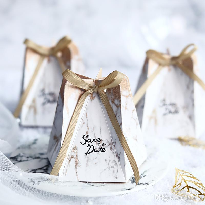 Confezioni Per Bomboniere Matrimonio.Acquista Scatole Bomboniere In Stile Marmorizzato Da 50 Pezzi