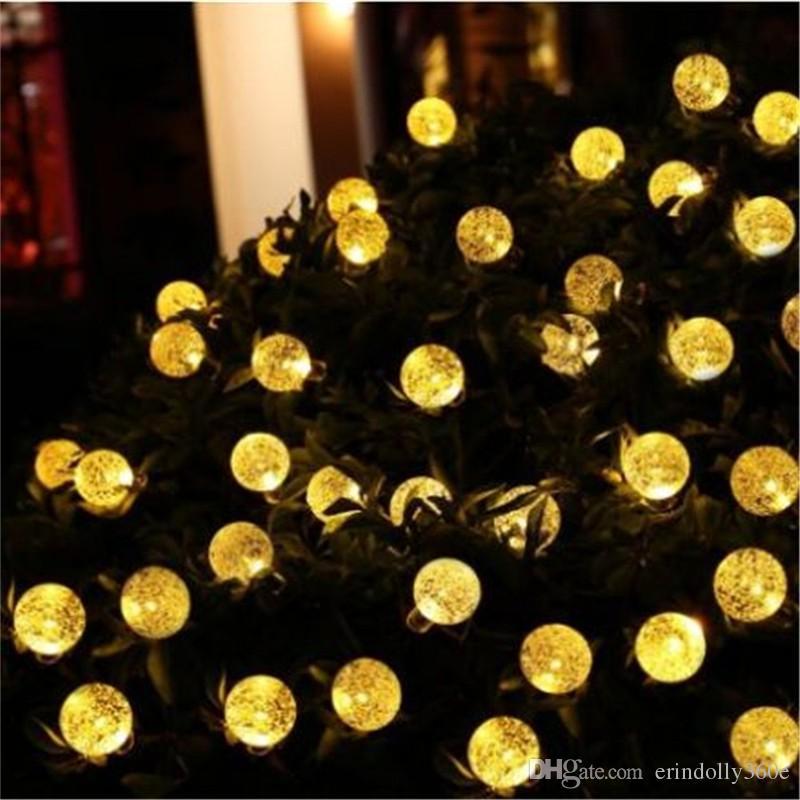 16ft 20 LED Crystal Ball Solar Powered String Lights Popolare Globe Fairy Lights per Outdoor Garden Decorazione del Festival di Natale