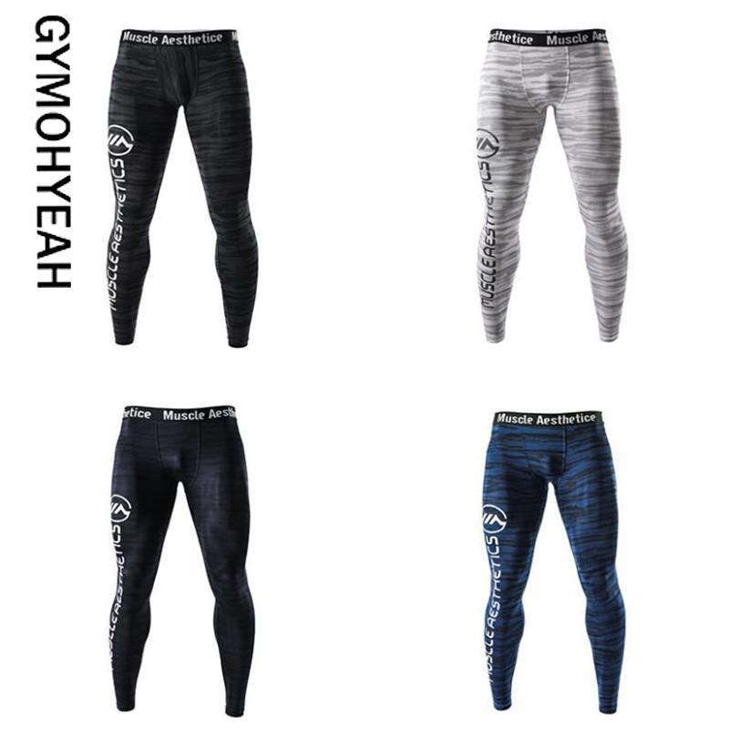 GYMOHYEAH Pantaloni della tuta skinny da uomo Pantaloni da compressione Pantaloni da uomo della moda Pantaloni da jogger Fitness PantsElasticTrousers