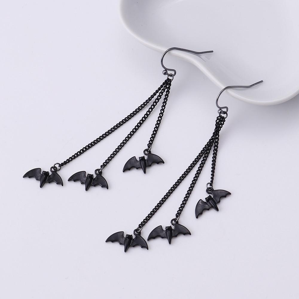 Girls Bat Colorful Ear Studs 925 Sterling Silver
