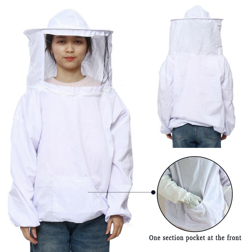 la ropa anti-abeja 4 en 1 Set Equipo de apicultura Traje Guantes abeja Cepillos gancho Colmena