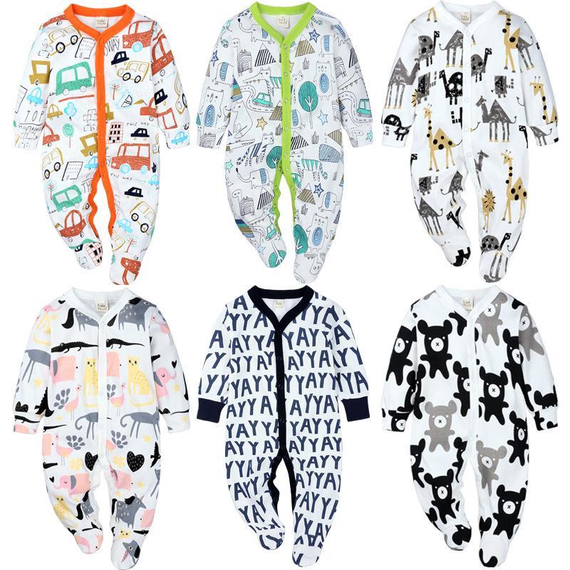 Neue Baby-Jungen Strickstrampler Mode Neugeborenes Jumpsuit Infant nette Karikatur-Tierspielanzug Ausstattungs O-Ansatz Playsuit roupas