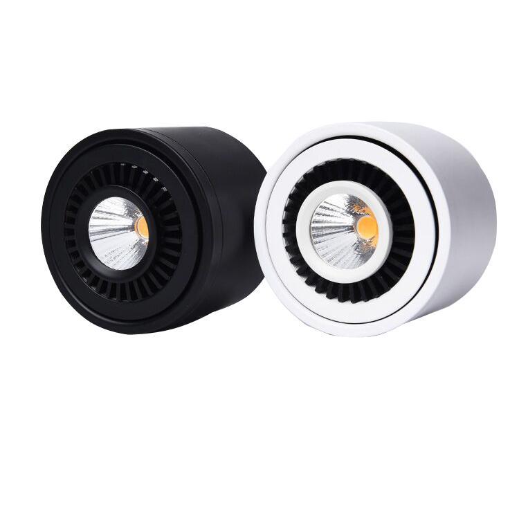 الخيالة سطح مصباح LED COB أسفل ضوء 360 درجة تناوب LED بقعة ضوء 3W 7W 10W 18W السقف مع سائق LED