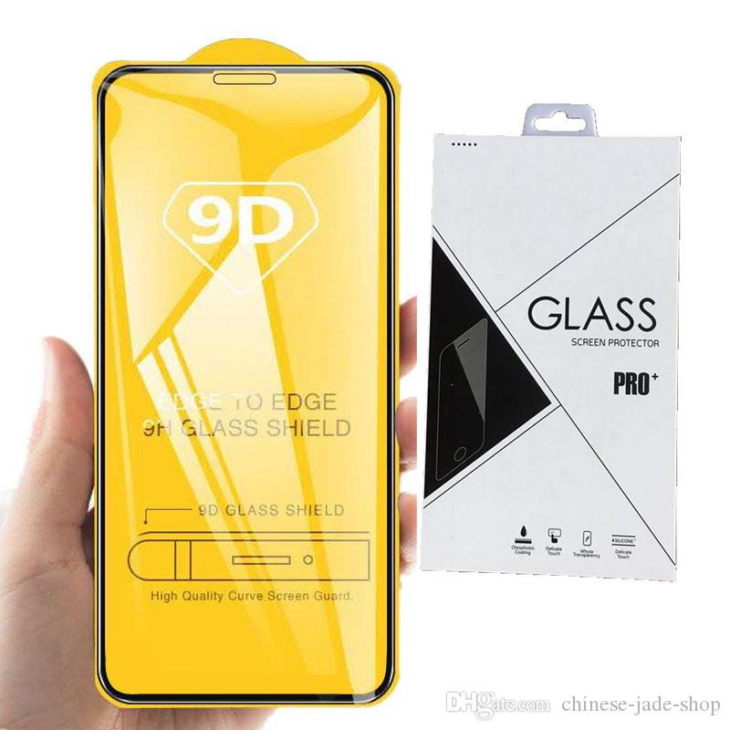 Full Cover 9D Tempered Glass Screen Protector AB Glue for iPhone 12 SE 2020 11 PRO 11 PRO MAX XR XS XS MAX 6 7 8 PLUS 1000pc CRexpress RETAI