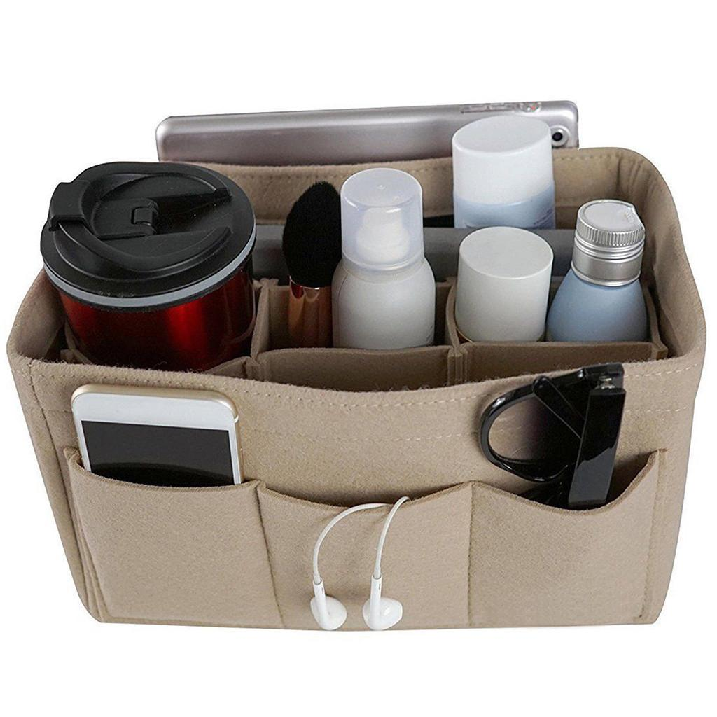 косметичка для рабочего стола Multi Pocket Felt организатор сумка для туалетных принадлежностей neceser mujer чехол для хранения Trousse de Toilette d90814