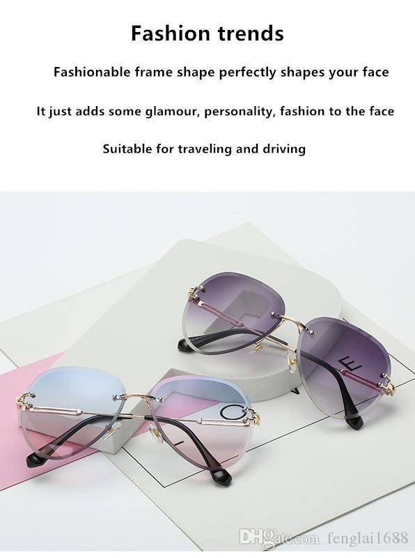 Diseñadores famosos diseñaron nuevos tipos de gafas con bordes cortados, sin aro, graduales, oceánicos, retro, redondos y metálicos.