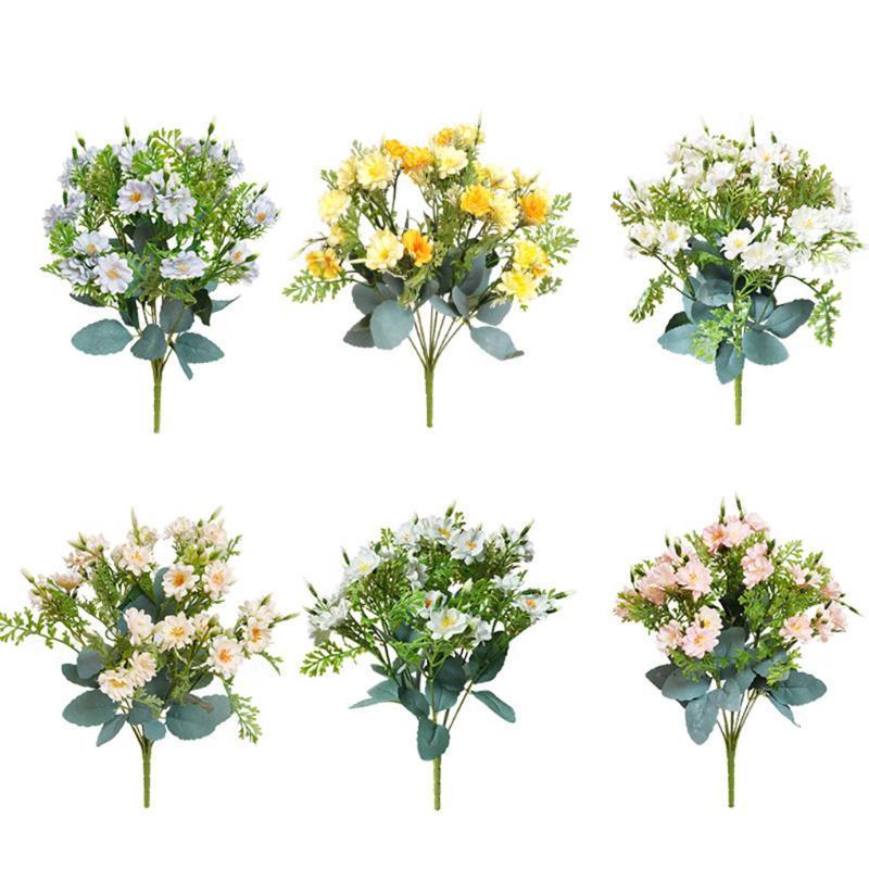الاصطناعي الزهور ديكور محور الرئيسية فندق وهمية باقة من الزهور حفل زفاف قماش الحرير زهرة