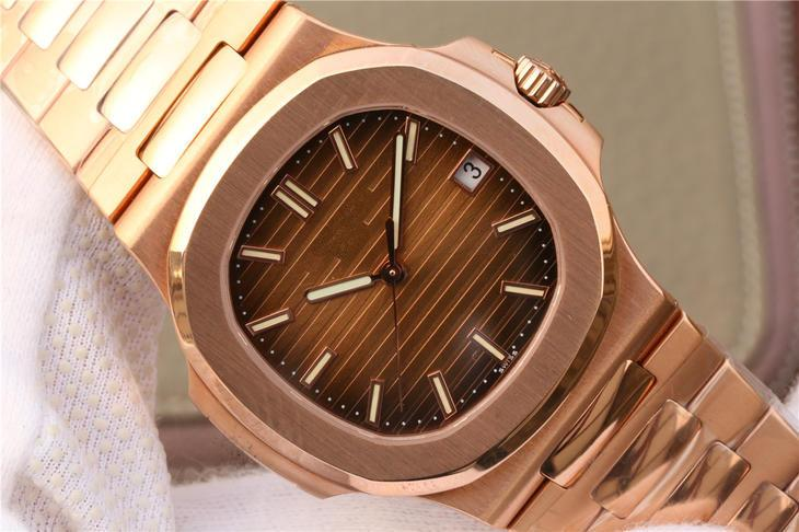 PF top luxury watch nautilus series 5711. The king of steel watches rose gold men's watch, Cal.324 automatic chain movement