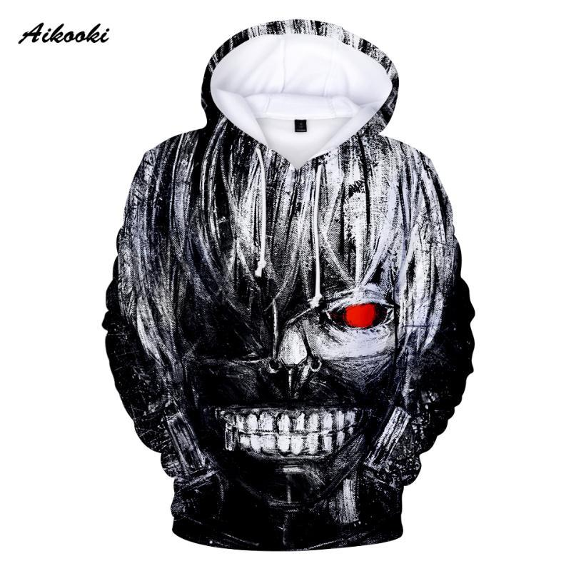 Donne Felpa Aikooki Tokyo Ghoul grande mano 3D Hoodies degli uomini / Hooded 3D Printing Tute Autunno Inverno Hoody Cotton Polluver