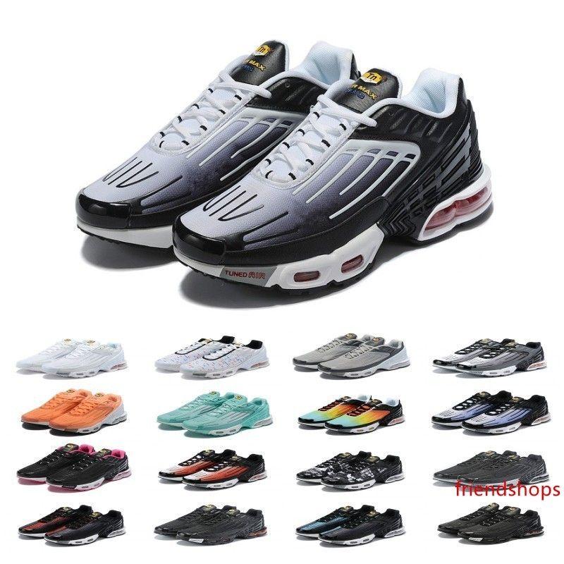 Conceptions 2019 Plus TN III 3 Sport Chaussures Hommes Femmes Chaussures Tuned Noir Blanc D'origine Tn Ultra formateurs de luxe Jogging og Sneakers