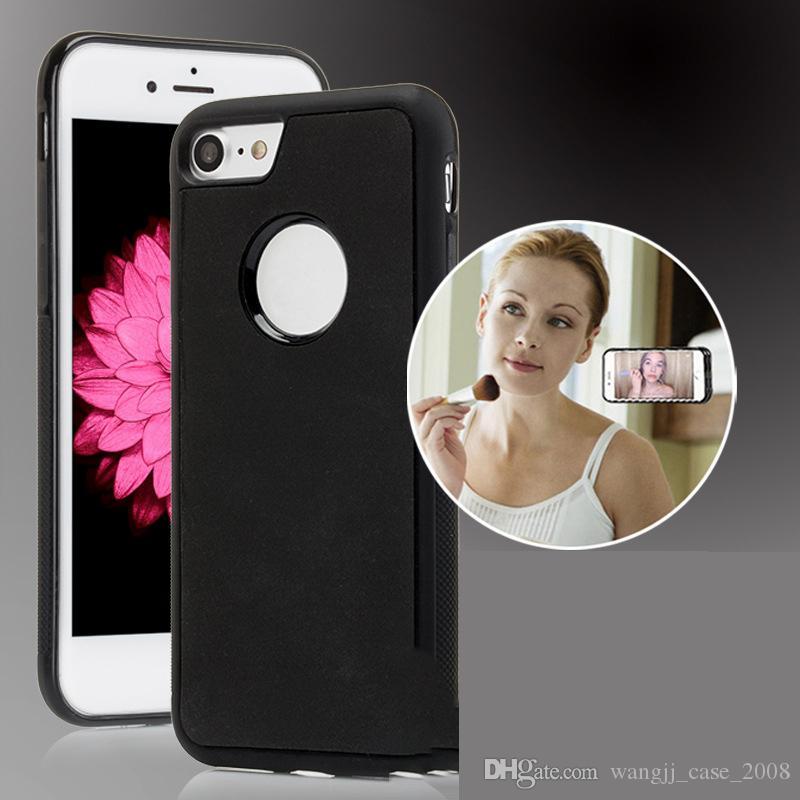 Caso de telefone Anti gravidade para iPhone12 11 XR 7 8 para Samsung Anti gravidade TPU quadro mágico nano tampa de sucção adsorved capa