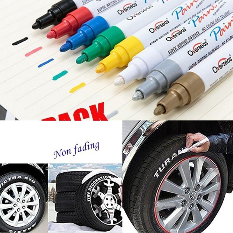 Colorido impermeável Pen Car Tire pena de marcador permanente Pinte Marcadores Graffiti oleosa marcador DIY Pintura A