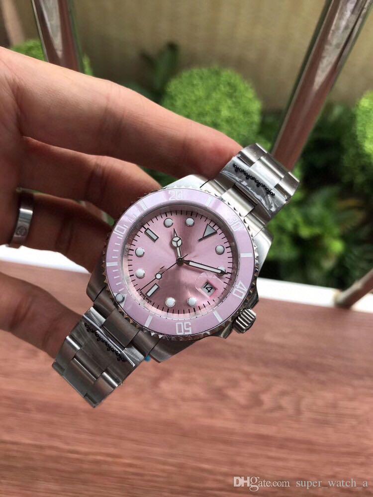 Movimiento Super Automático Pink Luxe Montre De Dial 80 Steel 316L Relojes 2813 Diámetro 116610 Banda Fine 40mm WNXMX