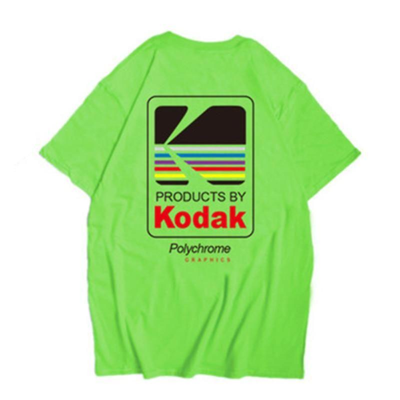 Kodak Logo Men T-Shirt Photographer Vintage Retro O-Neck Tshirts Cotton Casual Tee Shirts Mens Harajuku Top Tide XS-2XL
