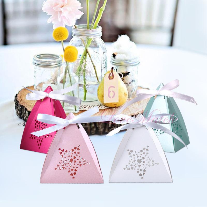 50pcs / lots Laser-Schnitt-Herz-Stern-Süßigkeit-Kasten-Baby-Duschen-Geschenk-Papierkasten-Geburtstags-Party-Süßigkeit Kid Party Supplies und Dekoration