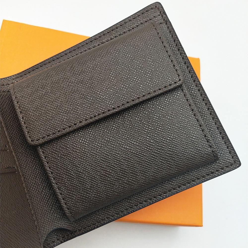 Klassiker mit Herren Bifold Brieftasche Multiple Kleine Qualität Brieftaschen mit Münztasche Mode Kurzer Männer Geldbörsenkasten Brieftaschen High Men mtqxf