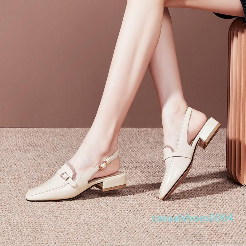 Lapolaka 2020 New Design Plus Large Size 48 Frauen Sandalen quadratische Zehe niedrige Ferse Metall Dekoration Pumpen beiläufige Sommer-Frauenschuhe c04