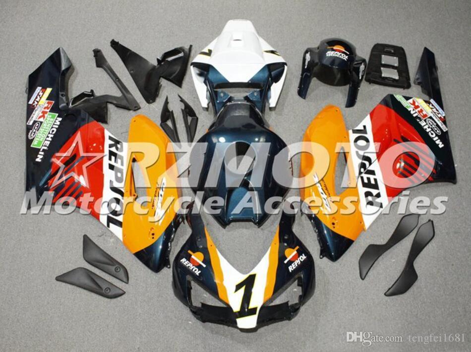 Stampaggio ad iniezione di qualità OEM ABS Carene complete Kit forma per HONDA CBR1000RR 2004 2005 04 05 CBR1000RR Carrozzeria impostato Fantastico Arancione Repsol