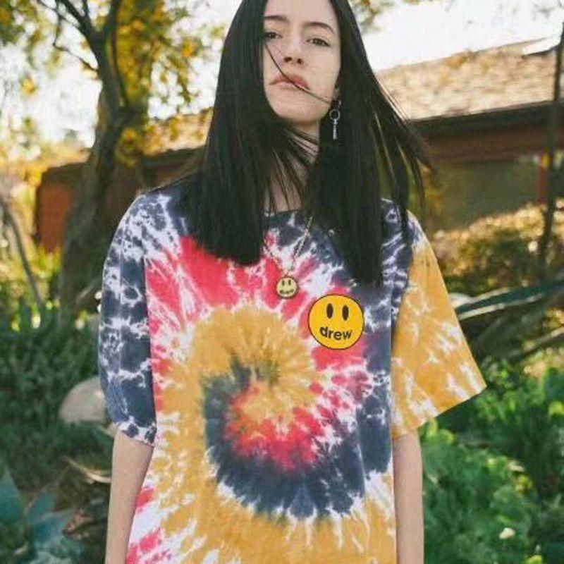 19SS Tendance Tee T-shirt Tie-dye Planche à roulettes, rue T-shirt Fashion respirant HFLSTX471 Casual