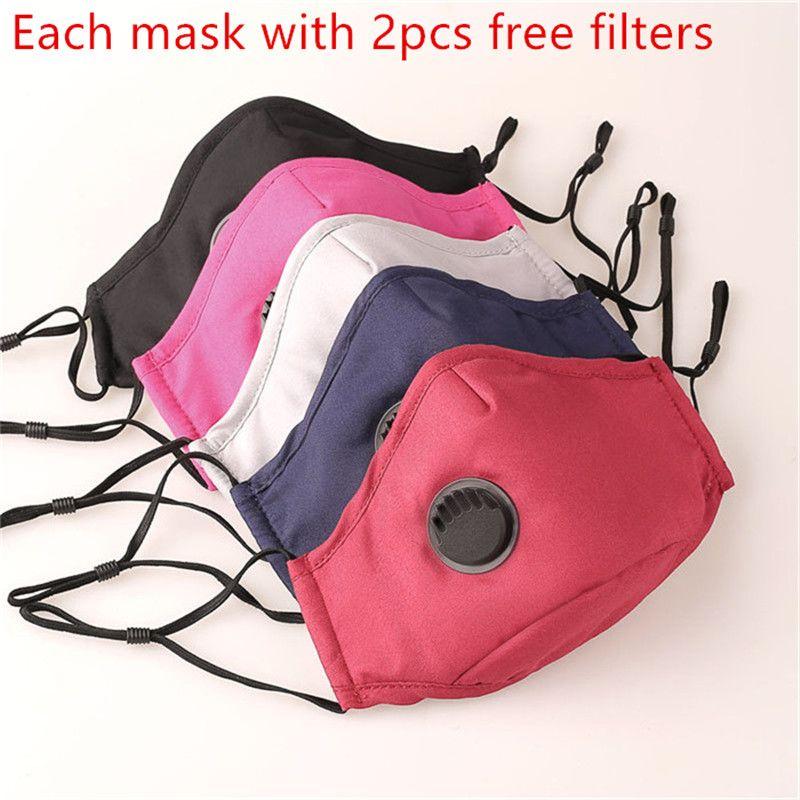La Mascarilla anti-polvo Earloop con Válvula respiratoria reutilizable ajustable de la boca Máscaras Máscaras suave y transpirable anti polvo protectoras 3pcs
