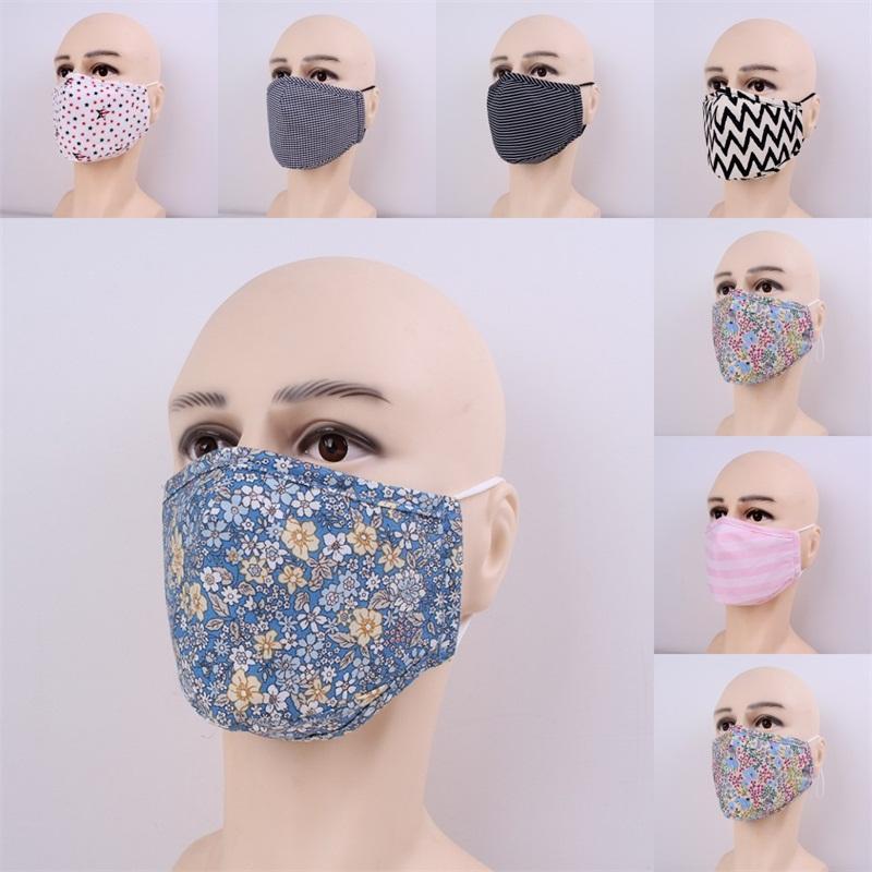 패션 얼굴 별 꽃 재사용 Mascarilla 스트라이프 안티 안개가 입 호흡면 천 빨 남성 여성 사용자 정의 5jma의 B2 보호 마스크