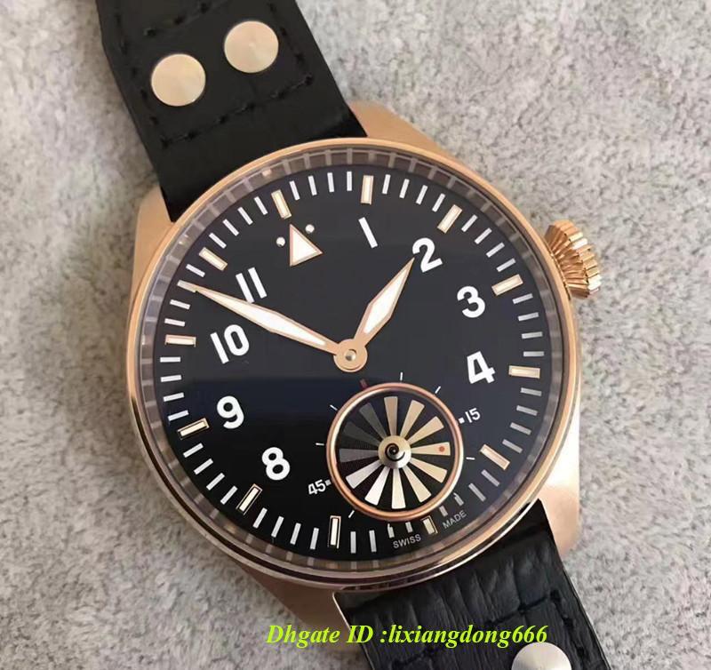 2019 best-seller top watch grande turbo azul / preto discagem automática dos homens mecânicos relógio 46MM dos homens dos homens relógio