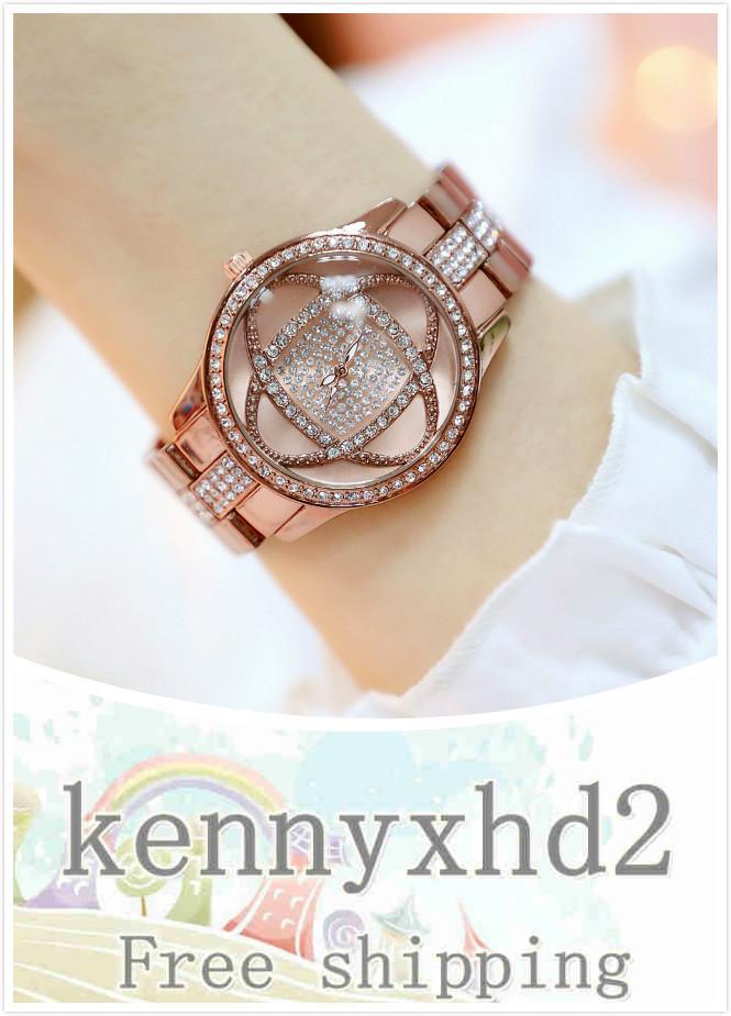 Il nuovo modo di alta qualità a caldo vendita di coda singola vigilanza di fascia alta vigilanza della catena pieno di diamanti orologio femmina fiore marrone