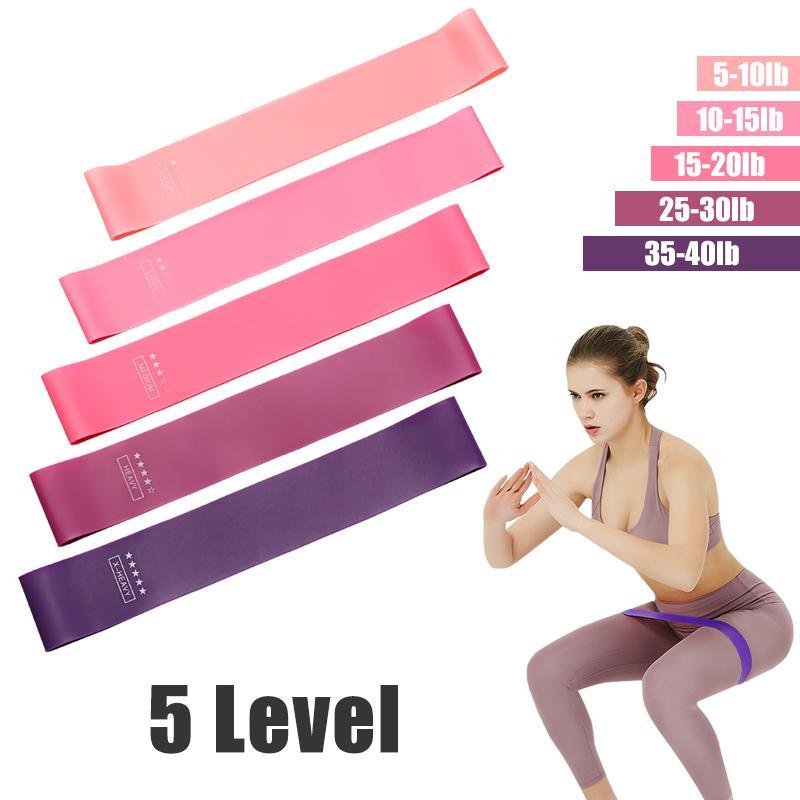 Yoga bande di resistenza Crossfit 5 livello di formazione gomma fune Per Gum Sport Pilates espansore di forma fisica di allenamento di ginnastica attrezzature di alta qualità