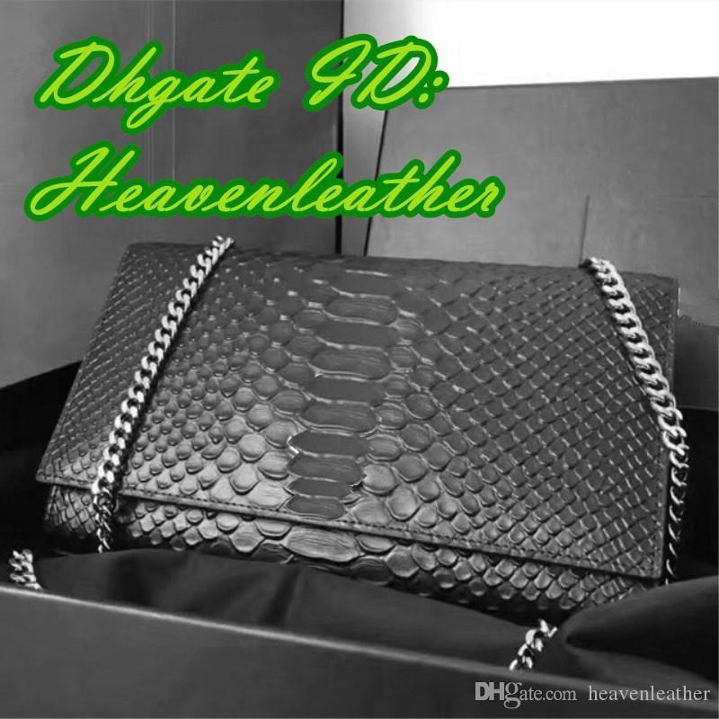 DS- sherryfactoryoutlets İyi Aquality Serpantin sığır derisi Çapraz Gövde, bayanlar tasarımcı çantaları, Gerçek Deri lüks bag.size: 24 * 14.5 * 5.5cm
