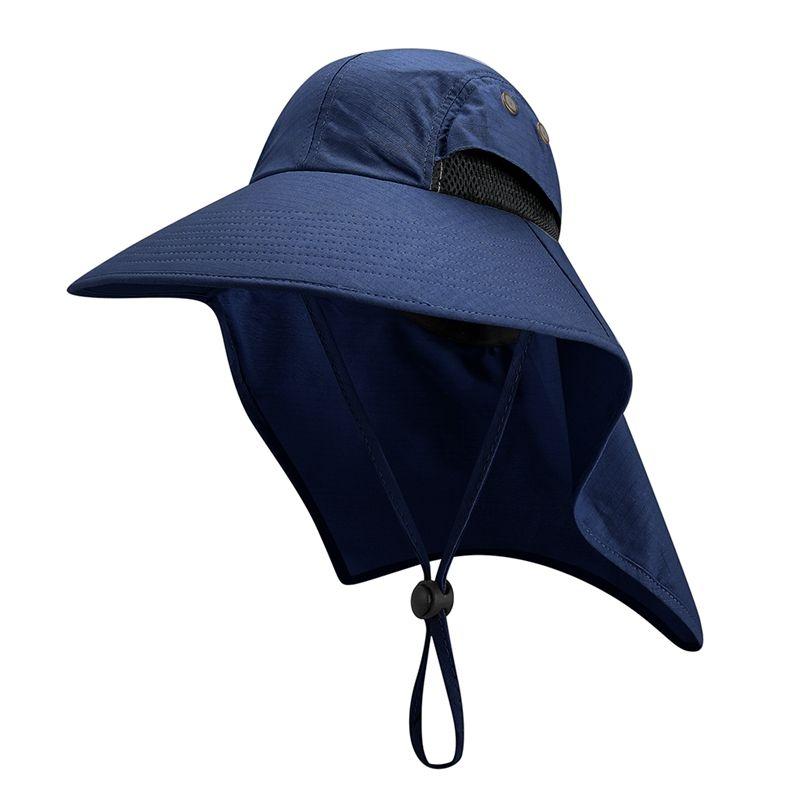 Outdoor Caminhadas Camping Cap protetor solar resistente à água Pesca Proteção UV Neck Tampa Hat Sportswear Acessórios Com Chin Strap