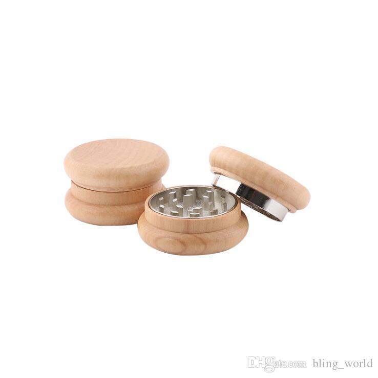 "Herb Or Spice Grinder 2/""  Wooden Tobacco"