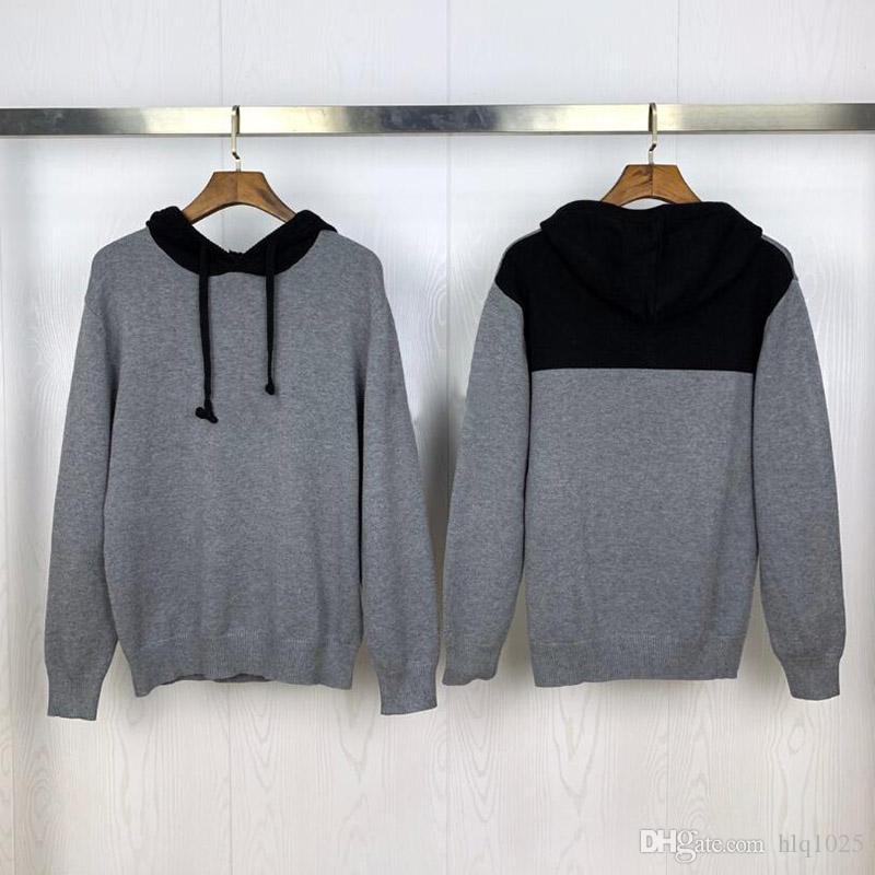 Новый стиль мужские свитера осень с длинным рукавом Мужчины Женщины свитер Streetwear пуловер Мужской капюшоном свитера Размер M-2XL