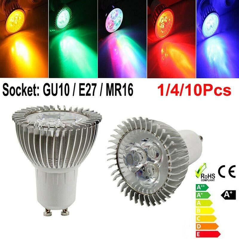 3W LED لمبة LED الأضواء LED المصابيح E27 GU10 MR16 كامل الطيف دافئ / بارد / أحمر / أخضر / بولي / الأصفر 85-265V 12V