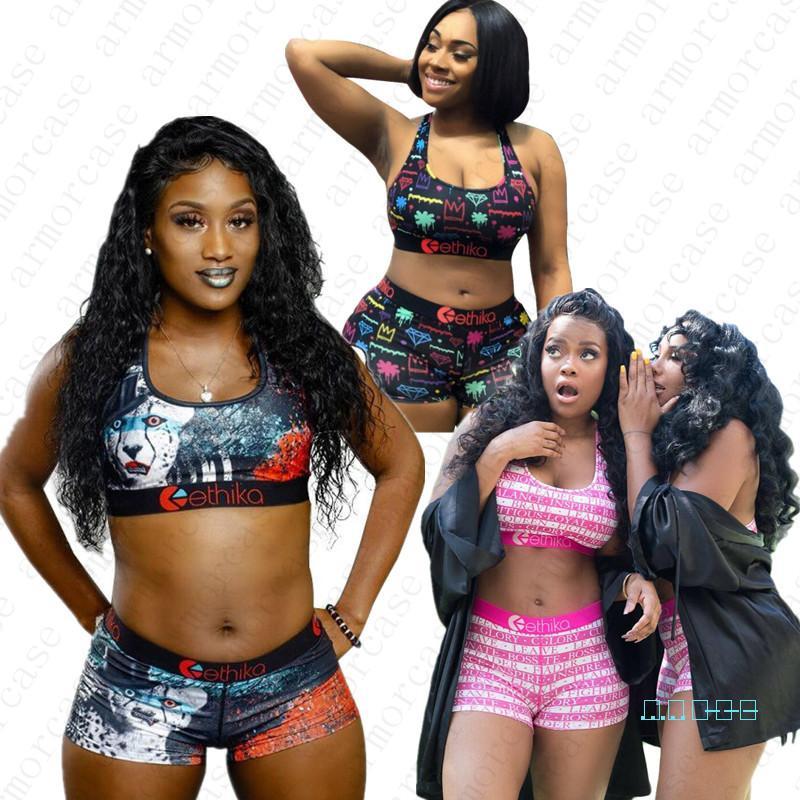 Women Designer Swimsuit 2Pcs Bikini Sets Leopard Crop Top Swimwear Push Up Tank Vest Bras + Shorts Tankini Beachwear Playsuit C6402