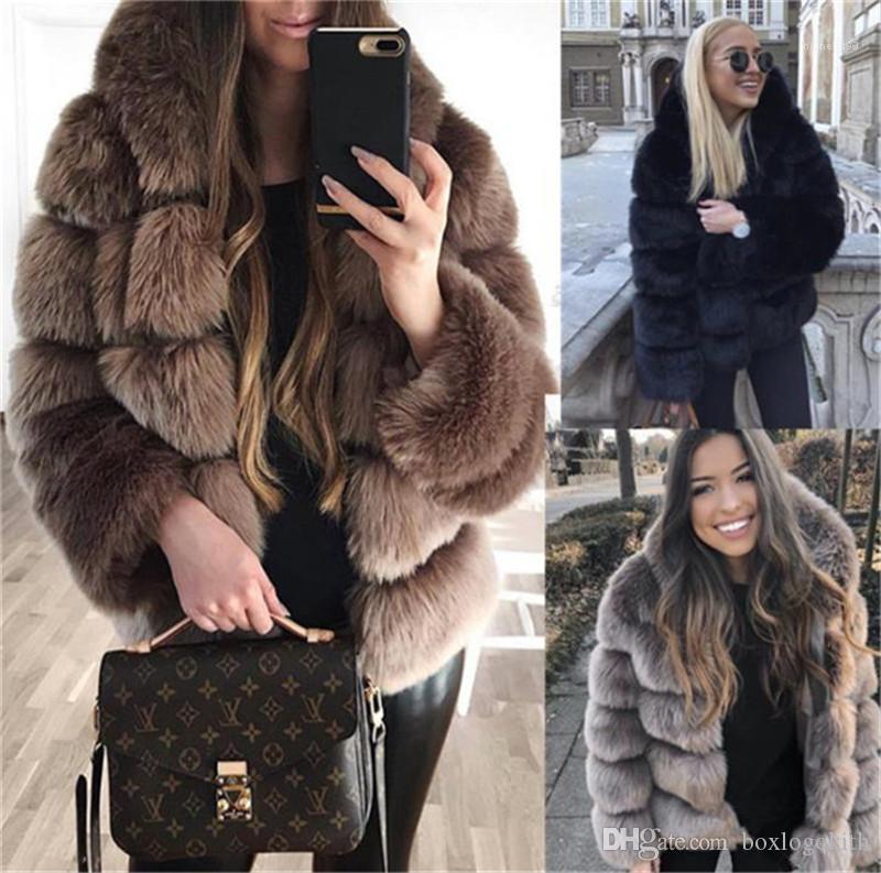 Art-elegante lose langärmelige warme starke Kapuze Mäntel Damen Mode Kleidung Frauen Luxus-Pelz-Mantel-Winter-Hot