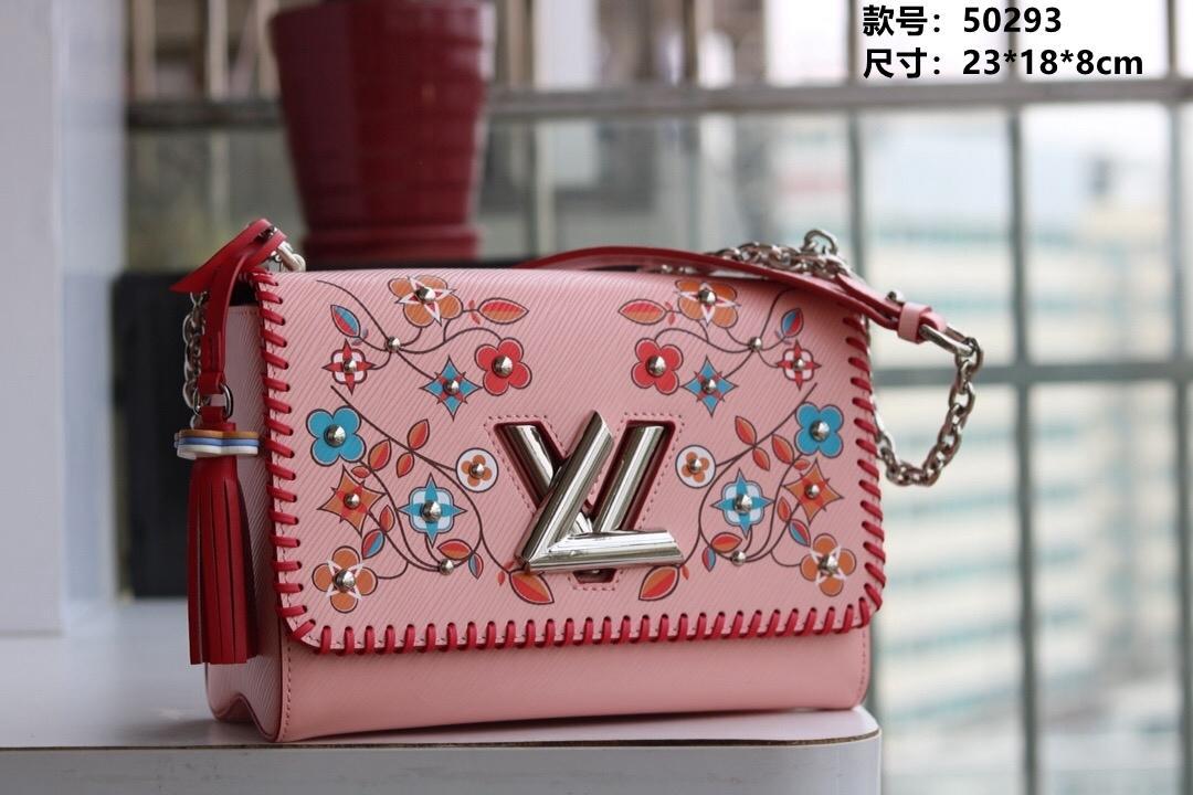 Fringe flor padrão high-end impressão mais recente de moda feminina ombro único Messenger Bag