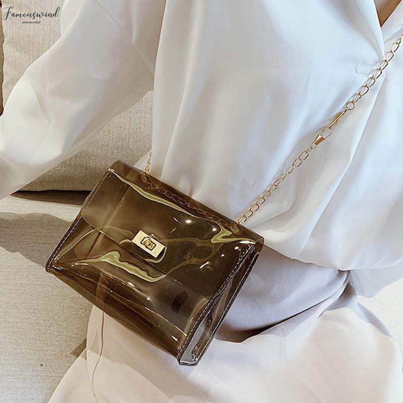 2020 Düz Yeni Stil Pvc Jelly Crossbody Çanta Şeffaf Şeker Renk Kadınlar Moda Çanta Lazer Omuz Çantaları Sac A Ana Femme H15
