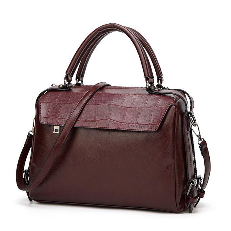 Women Fashion Classic Custom PU Leather Bag Purses And Handbags