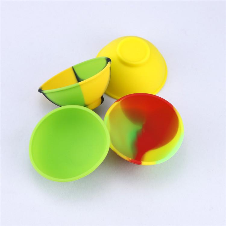 Bowl Shape Silicone Container Food Grade Big Rubber Non-stick Jars Dab Tool Storage Oil Holder 67mm*30mm Large Wax Container